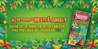 Nestlé Jungly campaña subasta Ibai
